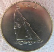 1980 Moscow Olympics Star Sailing Ship Medallion Official Pnc Collection Medal
