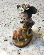 Rare Vintage Anri Walt Disney Minnie Mouse 6 Hand Woodcarving. Free Shipping