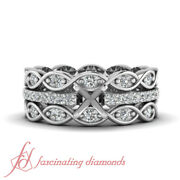 Platinum Wedding Ring Sets For Her Make Your Own Ring Engagement Ring Settings