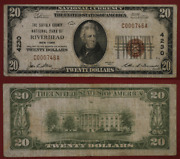 Riverhead Ny 20 1929 T-1 National Bank Note Ch 4230 Suffolk County Nb Vg/f