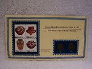 1904 And 1905 Indian Head Pennies - Pottery Coin And Stamp Commemorative Panel