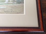 Original Riddle And Riddle Color Pencil Architectural Drawing. Signed In Pencil