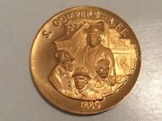 Longines-wittnauer 24k Ep On Bronze 1886 Compers Afl Proof Medal High Relief