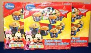 Disney Mickey Mouse And Minnie Mouse Clubhouse Snack And Cup Cake Stand Set Of 3