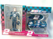 Lot-2 Nascar-2004-rusty Wallace 2 Car + Driver-2004 Dated Collectible Ornaments