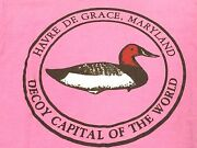 Vintage 80and039s Havre De Grace Maryland Duck Hunting Decoy Capital Pink T Shirt M