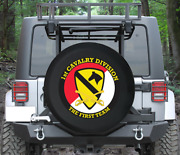 Spare Tire Cover First Cavalry Division Military Vet Wrangler Rv