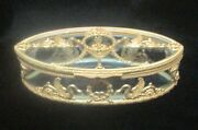 Large Antique Baccarat Crystal And Ormolu Casket / Box 19th Century