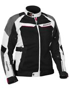 Castle Passion Air Womens Motorcycle Jacket White/black