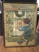 1918 Wwi Poster Red Cross Original Have You A Service Flag Willcox Smith