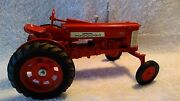 1985 Ertl 116 Scale Mccormick Farmall Tractor 350 Wide Front End Steerable Red