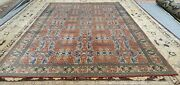 Exquisite Late 1930and039s Antique Wool Pile Brick Red Armenian Hereke Rug 7x10ft