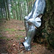Gothic 18g Steel Plates Armour Leg Protection Medieval Collectibles Replica S12