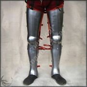 Gothic 18g Steel Plates Armour Leg Protection Medieval Collectibles Replica S13