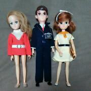 First Model Licca Chan Trio Doll Set Fo 3 Japan Rare Collectible Vintage Dress