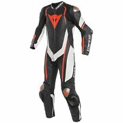 Dainese Kyalami Perforated 1-pc Suit Black/white/fluo Red