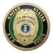 U.s. United States Air Force Usaf | Security Forces Police | Gold Plated Coin