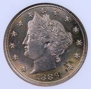 1886 Liberty V Nickel Ngc Ms 62 Lustrous Well Struck Key Date Looks Better