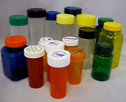Craft Bottles Clean Used Assorted Sizes Storage For Small Items Lot Of 17