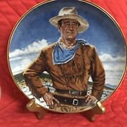 Collectible Plate Series John Wayne - The Franklin Mint 6 Of 12 In Series 1993