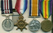 A Wwi Battle Of Thiepval Ridge Mm Group Of Four Awarded To Private J. D. Straker
