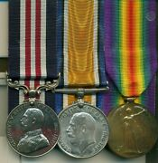 A Wwi M.m. Group Of Three Awarded To Bombardier P. L. Manchester Canadian