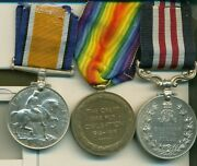 A Wwi M.m. Group Of Three Awarded To Sergeant J. G. Smart 10th Canadians