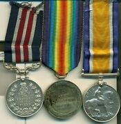 A Wwi M.m. Group Of Three Awarded To Corporal S. H. Robinson 28th North West