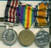 A Wwi Mm Group Of Three Lance-sergeant H. Ridgewell 28th North West Battalion