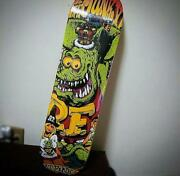 Rat Fink Rockinand039 Jelly Bean Skateboard Deck Art Collab Rare Never Used Japan F/s