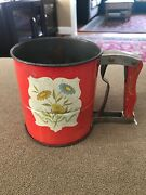 Vintage 1950s Androck Decorative 3 Screen Hand-i-sift Flour Sifter Sb