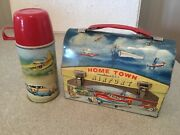 Hometown Airport Lunchbox And Thermos Vintage American Thermos Product Co. 1960