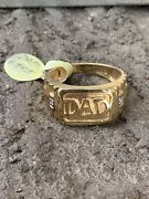 Mens 14k Yellow Gold Dads Ring 10.5