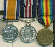 A Wwi M.m. Group Of Three Awarded To Private L. Larson 50th Calgary Battalion