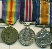 A Wwi Battle Of Lens M.m. Group Of Three Awarded To Acting Sergeant E. Haggis