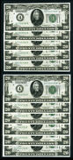 Fr. 2050 D 20 1928 Federal Reserve Note Cleveland 11 Pc Lot Choice Cu