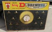 Vintage Rare Drewrys Advertising 1940s 1950s Beer Sign Pick Board 48 By 36