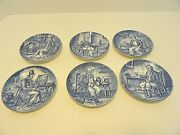 Enoch Wedgewood China Blue And White Coasters Set Of Six