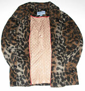 Jaclyn Smith Wool Jacket Leopard Print Adult Size Large New W/tag