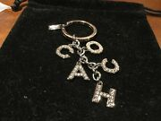 New Coach Multi Mix Pave Crystal/silver Keychain/keyring/charm