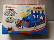 New Fisher-price Little People Circus Train Flatables Inflatable W/ Balls