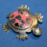 Inlaid Pink Turtle Pen Sterling