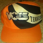 Tennessee Vols College 1984 Vintage Snap Back Hat Osfa Rare Colored Swirl Ad