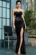 New Designer Couture Want My Look Dress Annabelle Gown Black Maxi Dress