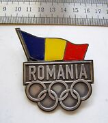 C505 Official London 2012 Olympic Delegation Of Romania Badge Pin