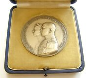 H881 Greece Germany 1938 George Ii And Frederica Of Hannover Marriage Silver Medal