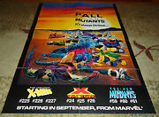 Fall Of The Mutants Poster22 X 32lightly Worn-original-vintage