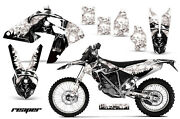 Graphics Kit Mx Decal Sticker Wrap + Plates For Bmw G450x 2010-2011 Reaper Wht