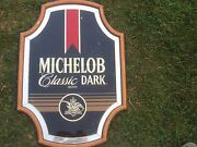 Michelob Classic Dark Beer Bar Glass Sign