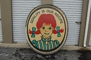 Wendy's Logo Lighted Commercial Outdoor Store Marquee Sign, 66 Tall X 55 Wide